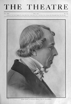 George Arliss - George Arliss as Benjamin Disraeli, The Theatre magazine, 1911