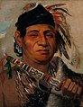 George Catlin - Mah-kée-mee-teuv, Grizzly Bear, Chief of the Tribe - 1985.66.218 - Smithsonian American Art Museum.jpg