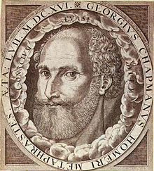 George Chapman. Frontispiece engraving for The Whole Works of Homer (1616) attributed to William Hole