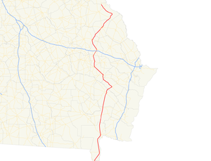 Georgia State Route 23 - Image: Georgia state route 23 map
