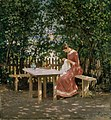 Gerhard Munthe - The Artist's Wife in the Arbour - NG.M.01702 - National Museum of Art, Architecture and Design.jpg