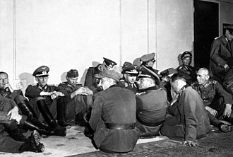 Liberation of Paris - German soldiers at the Hôtel Majestic, headquarters for the Militärbefehlshaber in Frankreich, the German High Military Command in France. They requested that they be made prisoner only by the military and surrendered to Battalion Chief Jacques Massu of the 2e DB.