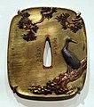 Giappone, periodo edo, tsuba (coprimano da elsa di spada), xviii e xix secolo, 03 cicogna.jpg
