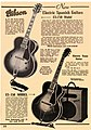 Gibson ES-250, ES-150 with EH-185 amp - magazine advertisement in 1939-1940.jpg