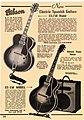 Gibson ES-250, ES-150 with EH-185 amp - magazine advertisement in 1939-1940.jpg