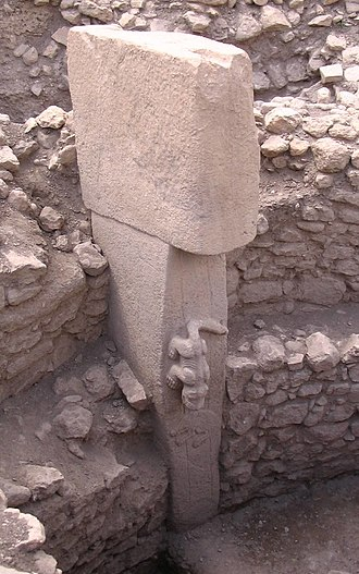 Göbekli Tepe - Pillar 27 from Enclosure C (Layer III) with the sculpture of a predatory animal
