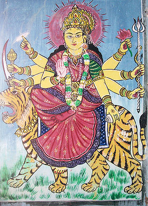 Arts of Odisha - Image: Godess Durga painting