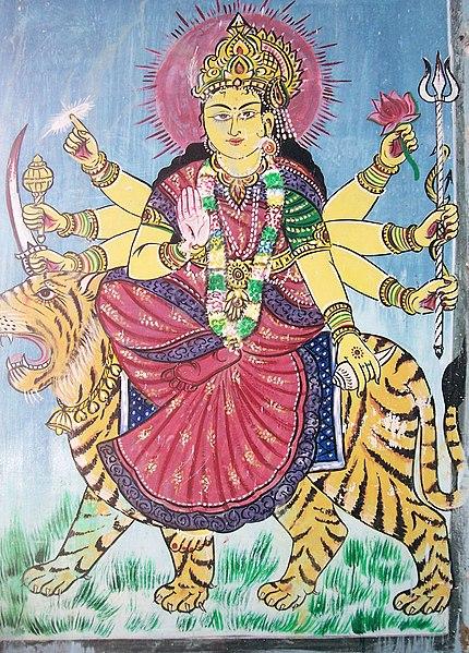 File:Godess Durga painting.JPG