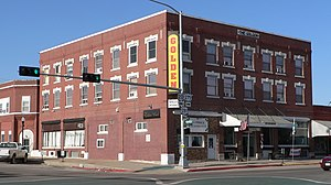 National Register of Historic Places listings in Holt County, Nebraska - Image: Golden Hotel (O'Neill, Nebraska) from SW