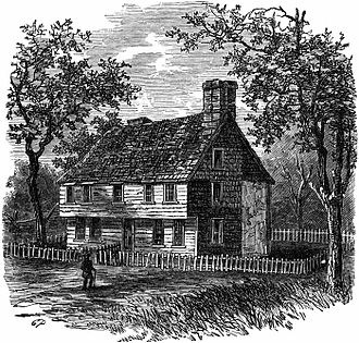William Coddington - Governor William Coddington House, a stone-ender in Newport built around 1640, destroyed in 1835. It was adjacent to the White Horse Tavern, which sits on land originally owned by Coddington