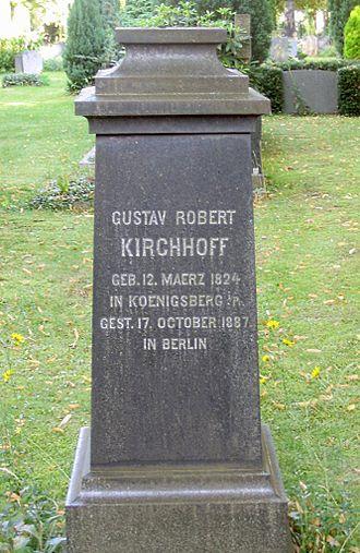 Gustav Kirchhoff - Tombstone at Alter St.-Matthäus-Kirchhof