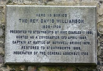 Battle of Bothwell Bridge - A Covenanter's progress revealed on a gravestone in Edinburgh