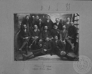 Georgios Modis - Photograph of Greek revolutionaries, Georgios Modis is in the top-right.