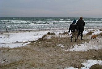 Grenaa Beach - Image: Grenå Strand vinter 2