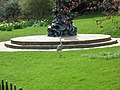 Grey heron in front of Peter Pan Statue in Hyde Park - panoramio.jpg