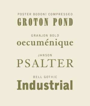 Chauncey H. Griffith - Specimens of typefaces by Chauncey H. Griffith