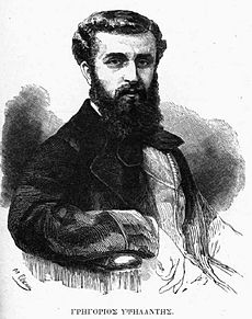 Black-and-white portrait of a bearded man