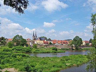 Grimma Place in Saxony, Germany