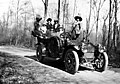 Group on an outing with automobile, ca 1911 (TRANSPORT 21).jpg