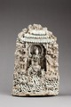 Guanyin (barmhärtighetens gudinna) sittande i en grotta, från Jingdezhen, Kina - Hallwylska museet - 96183.tif