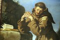 Guercino, san francesco che adora il crocifisso, 1645, 06.JPG