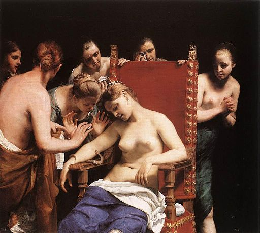 Guido Cagnacci - The Death of Cleopatra - WGA03758