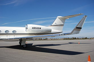 Gulfstream IV - The winglet of a G450