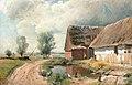 Gustaf Rydberg - Skånskt landskap med bondgård och byväg.jpg