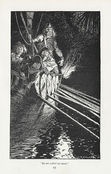 Illustration by H. R. Millar from the 1911 edition of  Puck of Pook's Hill - image from Wikimedia Commons