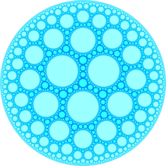 Heptagonal tiling honeycomb - Image: H3 733 UHS plane at infinity