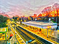 HDR sunset at the station (10839923146).jpg
