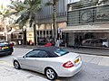 HK 上環 Sheung Wan 必烈者士街 Bridges Street white benz January 2020 SS2.jpg