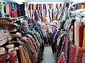 HK 上環 Sheung Wan 西港城 Western Market 花布街 Cloth shop January 2019 SSG 04.jpg