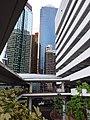 HK 上環 Sheung Wan north 干諾道中 Connaught Road Central footbridge view Rumsey Street Multi-Storey Car Park morning August 2019 SSG 12.jpg