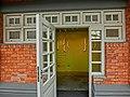 HK 北角 North Point 油街實現 Oil Street Art Space red brick house Mar-2014 gallery exhibition room entrance white door Mar-2014.JPG