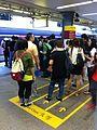 HK 東鐵線 MTR East Rail Line 九龍塘 Kln Tong Station Oct-2013 platform visitors first class waiting zone area.JPG
