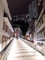 HK Central night 舊中區警署 Ex-Central Police Station 奧卑利街 Old Bailey Street footbridge 荷李活道 Hollywood Road October 2018 SSG 11.jpg