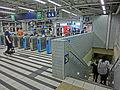 HK MTR Station 火炭站 Fo Tan pay gates n stairs to platform Nov-2013.JPG