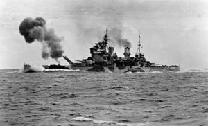 HMS Anson (79) firing guns in North Sea c1942.jpg