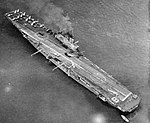 HMS Bulwark (R08) at anchor in May 1958.jpg