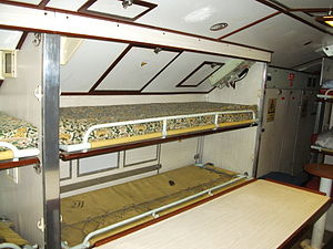 HMS Ocelot 1962 crew compartment bunks.JPG