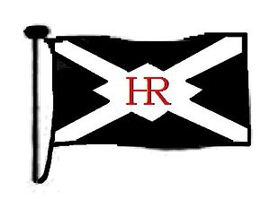 Hall, Russell & Company - Image: HR FLAG WITH RED CENTRE