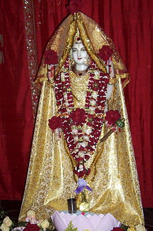 Crestone, Colorado - The deity Haidakhandeshwari in the temple of the Haidakhandi Universal Ashram near Crestone