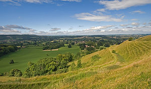 Blackmore Vale - View from Hambledon Hill overlooking Child Okeford and Blackmore Vale