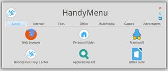 HandyLinux - Image: Handymenu 4 latest en