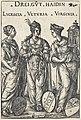 Hans Burgkmair I, Lucretia, Veturia and Virginia, 1516, NGA 30651.jpg