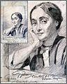 Hans Gyenis, Frauen-Porträtzeichnung, Irma hugom, Pe´cs, Juli 1915.jpg