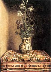 Hans Memling - Still Life with a Jug with Flowers.jpg