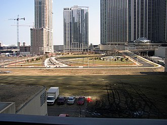 Lakeshore East - Eastward view of Lakeshore East (March 5, 2005)
