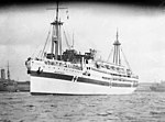 Harbour scene of hospital ship MANUNDA, 17th August 1940.jpg